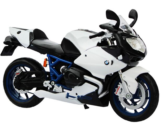 1:12 Scale Kids White BMW HP2 Sport Motorcycle Toy