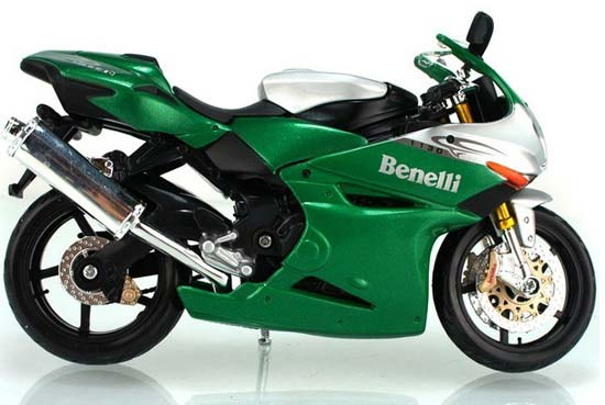 1:12 Scale Green Kids Benelli Tornado Tre 1130 Motorcycle Toy