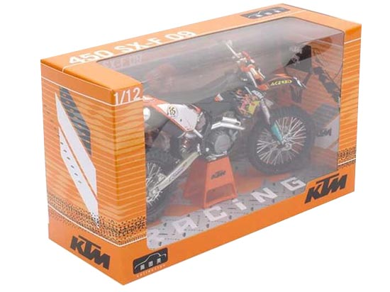 1:12 Scale Black Kids KTM 450 SX F Motorcycle Toy