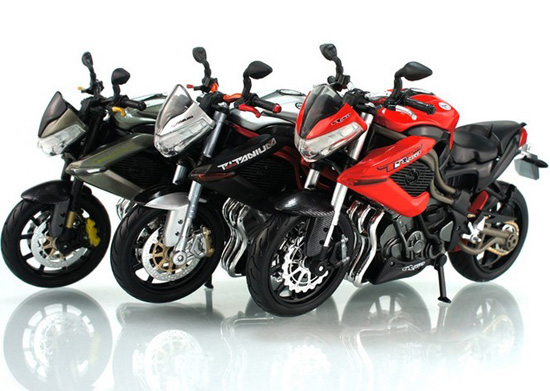 1:12 Scale Black-Silver / Gray /Red-Black Benelli TNT Motorcycle