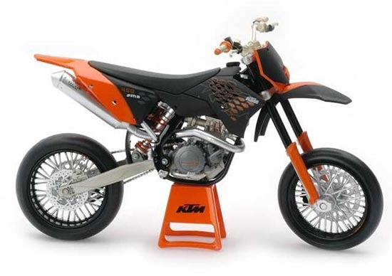 1:12 Scale Black-Orange Kids KTM 450 SM R Motorcycle Toy