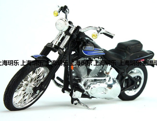 1:18 Scale Black Harley-Davidson FXSTSB BAD BOY Motorcycle Toy