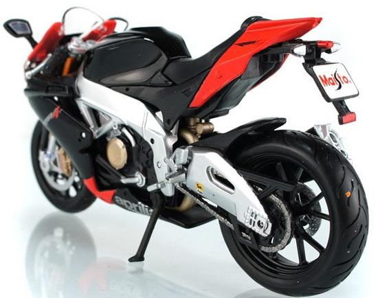 1:12 Scale Red-Black Kids Aprilia RSV4 Motorcycle Toy