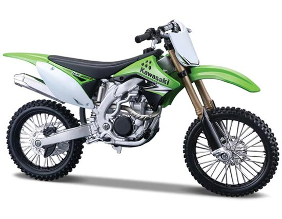 Kids 1 12 Scale Green Kawasaki Kx450f Motorcycle Toy Mt08t0051 Vktoybuy Com