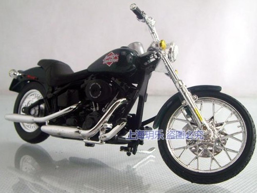 1:18 Deep green Harley-Davidson 2000FXSTB Night Train Motor Toy