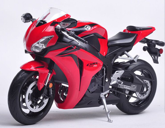 1 10 Scale Red Kids Welly Honda Cbr1000rr Motorcycle Toy