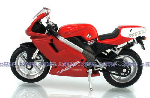 1:18 Scale Kids Red CAGIVA MITO 125 Motorcycle Toy