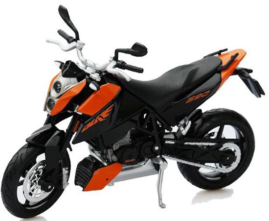 1 12 Scale Black Orange Kids Ktm 690 Duke Motorcycle Toy