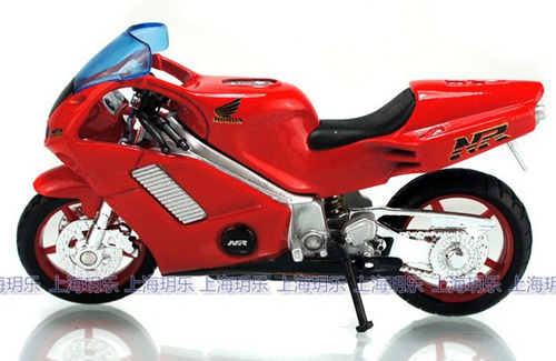 1:18 Scale Kids Welly Blue Honda RN Motorcycle Toy