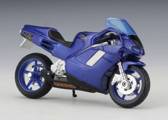 1:18 Scale Kids Welly Blue Diecast Honda NR Motorcycle Toy