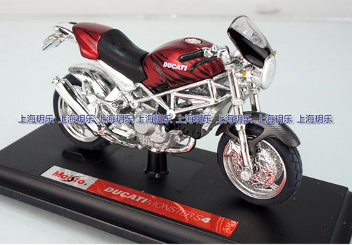 Kids 1:18 Scale Red DUCATI MONSTER S4 Motorcycle Toy