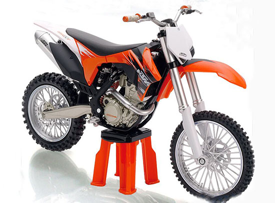 Black-Orange 1:12 Scale KTM 350 SX F Motorcycle Model