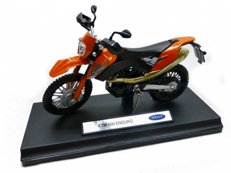 Welly 1:18 Scale Diecast KTM 690 ENDURO Motorcycle Model