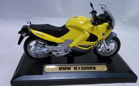 Yellow 1:18 Scale Diecast BMW K1200RS Motorcycle Model