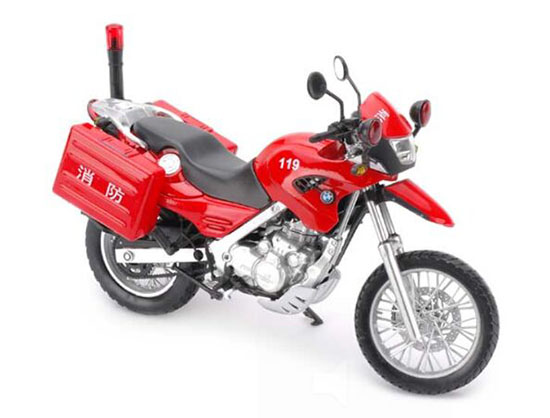 Yellow / Red / Blue 1:12 Scale Die-cast BMW F650GS Motorcycle