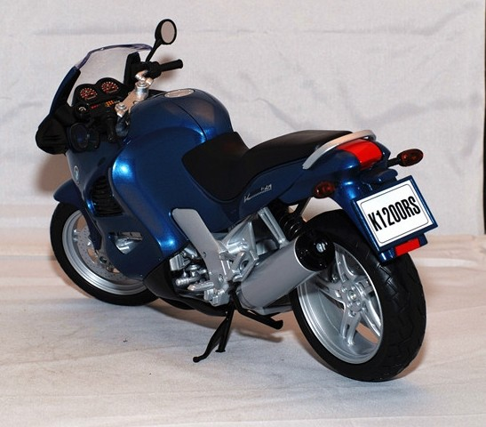 Blue 1:6 Large Scale Die-cast BMW K1200RS Motorcycle Model