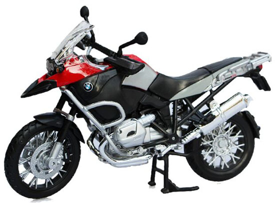 MaiSto Red / Yellow 1:12 Scale Diecast BMW R1200GS Model
