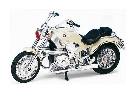 Silver 1:18 Scale Welly Die-cast BMW R1200C Model
