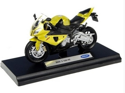 Welly Brand 1:18 Scale Diecast BMW S1000RR Motorcycle Model