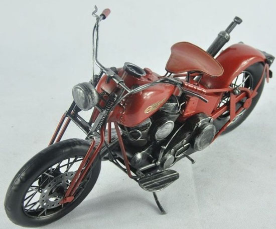 Wine Red Medium Vintage 1962 Harley Davidson FLH DUO GLIDE