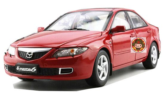 Red / White / Blue 1:18 Scale Diecast New Mazda 6 Model