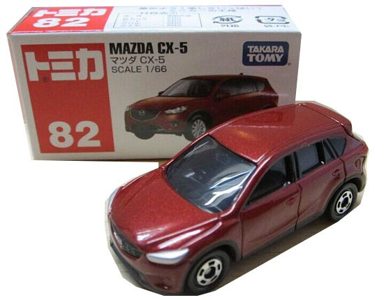 Red / Blue 1:66 Scale Kids TOMY NO.82 Diecast Mazda CX-5 Toy