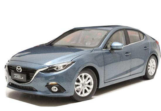 Blue / Red 1:18 Scale Diecast Mazda 3 AXELA Model