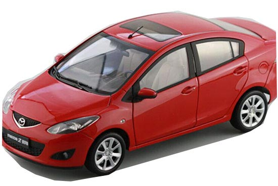 Red / Blue 1:18 Scale Diecast Mazda 2 Model