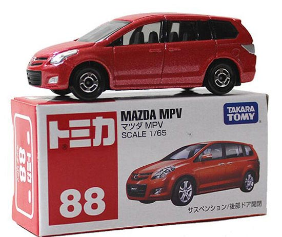 Red 1:65 Scale TOMY NO.88 Diecast Mazda MPV Toy