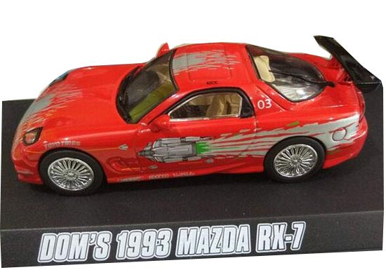 Red 1:43 Scale Diecast Dom 1993 Mazda RX-7 Model