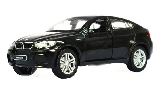 Kids 1:32 Scale Black / Red / White Diecast BMW X6 M Toy