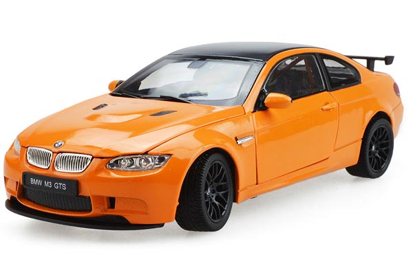 White / Orange 1:24 Scale Diecast BMW M3 GTS Model