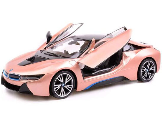 1 14 Scale Kids White Golden Plastics R C Bmw I8 Concept Toy