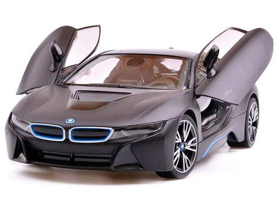 1:14 Scale Kids White / Golden Plastics R/C BMW I8 Concept Toy