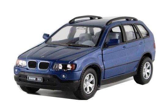 Kids 1:36 Scale Blue Diecast BMW X5 Toy