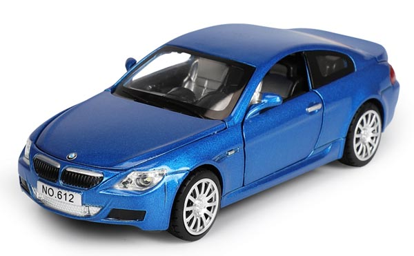 Kids 1:32 Scale White / Blue / Black /Orange Diecast BMW M6 Toy