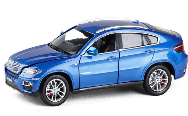 Blue / Red 1:26 Scale Diecast BMW X6 Model