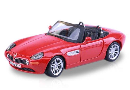 Red / Black 1:24 Scale Maisto Diecast BMW Z8 Model
