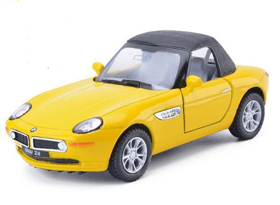 Silver / Yellow / Red /Black 1:36 Scale Kids Diecast BMW Z8 Toy