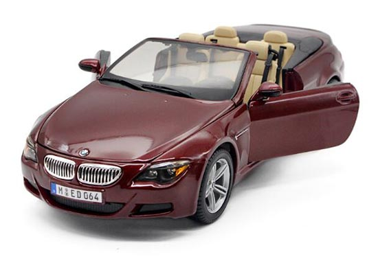 Wine Red 1:18 Scale Maisto Diecast BMW M6 Model