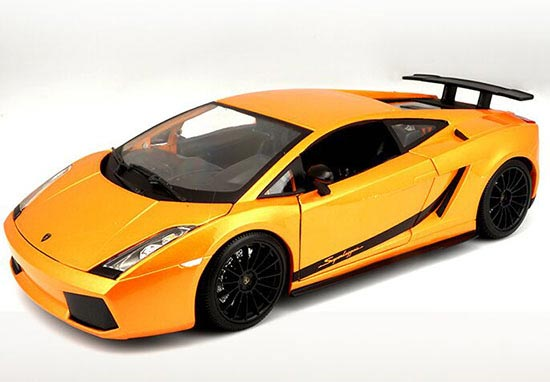 Orange / Black 1:18 Maisto Diecast 2007 Lamborghini Gallardo