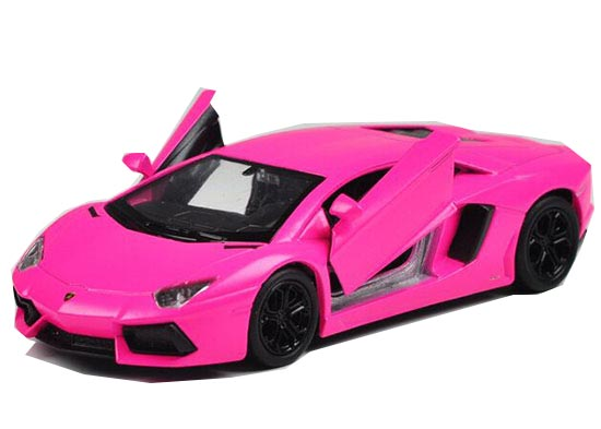 1:36 Welly Purple /Orange Diecast Lamborghini Aventador LP700-4