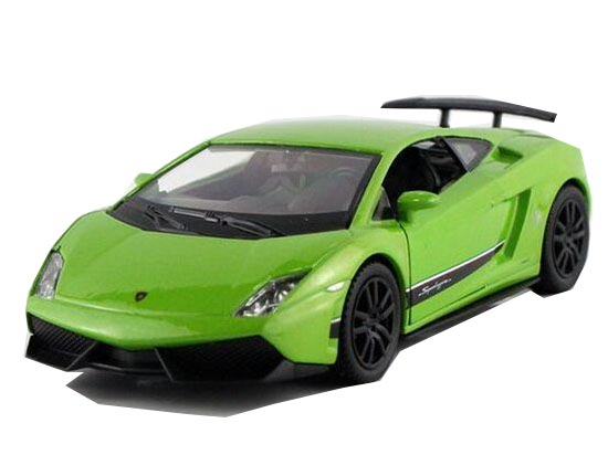 White / Yellow / Green 1:36 Diecast Lamborghini LP570-4 Toy