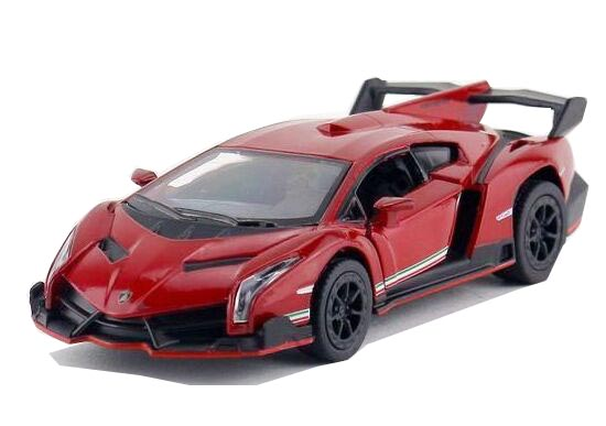 Orange / Wine Red / Black / Gray 1:36 Diecast Lamborghini Veneno