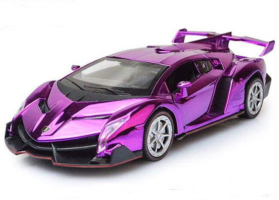 1 32 Kids Blue Red Purple Golden Diecast Lamborghini