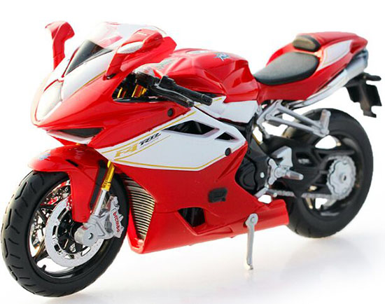 Red 1:12 Scale MaiSto Diecast MV AGUSTA F4 RR 2012 Motorcycle