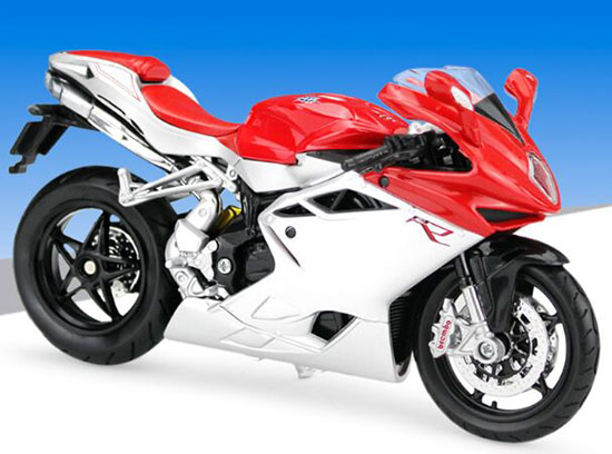 Red 1:12 Scale MaiSto Diecast MV AGUSTA F4 Motorcycle Model
