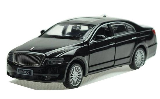 Blue / Black / Silver Kids 1:32 Scale Diecast FAW HongQi H7 Toy