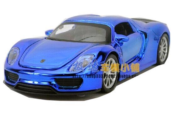 Kids 1 32 Purple Silver Golden Blue Die Cast Porsche 918 Toy