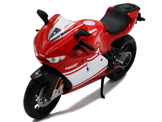 Red / White 1:12 MaiSto DieCast Ducati DESMOSEDICI RR Motorcycle